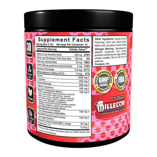 Mayhem Energy Cherry Limeade Supplement Facts